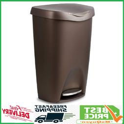 Can Trash 13 Gallon Kitchen With Lid Step Free Touch Bin Gar