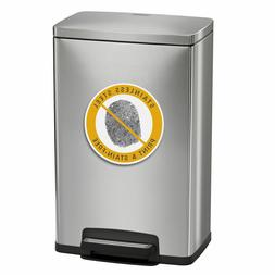 Stainless Steel Freshener 13 Gallon Step Trash Can Tramontin
