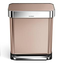 simplehuman 30 Liter / 8 Gallon Stainless Steel Rectangular