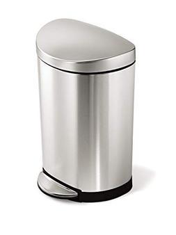 simplehuman 10 Liter / 2.3 Gallon Stainless Steel Small Semi