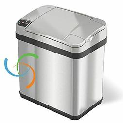 iTouchless 2.5-gal. Stainless Steel Silver Touchless Trash C