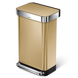 simplehuman 45 Liter / 12 Gallon Stainless Steel Slim Kitche