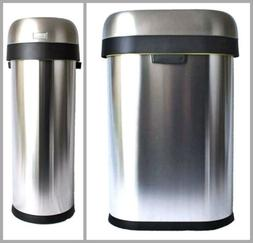 SIMPLEHUMAN Stainless Steel Slim Trash Can Waste Container 1