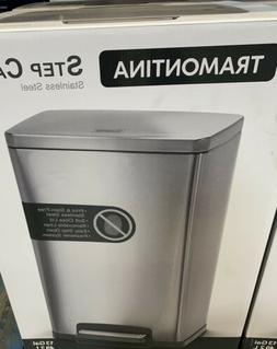 Tramontina Stainless Steel Step Trash Can, Silver  **Free Sh