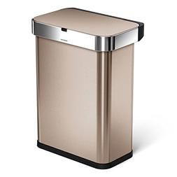 simplehuman 58 Liter / 15.3 Gallon 58L Stainless Steel Touch