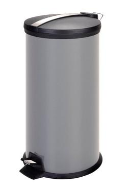 Honey-Can-Do Stainless Steel Step Trash Can with Liner, Grey