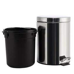 Stainless Steel Trash Can Step Trash & Recycling Pedal Bin f