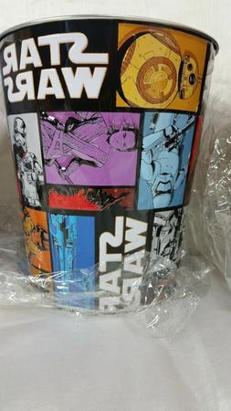STAR WARS THE FORCE AWAKENS SOLID METAL EMBOSSED TRASH CAN #