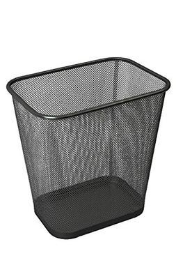 Ybmhome Steel Mesh Rectangular Open Top Waste Basket Bin Tra