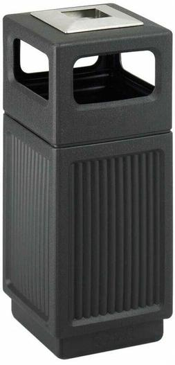 Steel Waste Receptacle 15 Gal. Commercial Trash Can with Lin