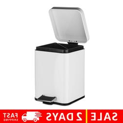 Step Foot Pedal Trash Can Garbage Can with Lid Small Trash C