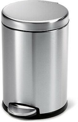 Step Trash Can Garbage Bin Lid Kitchen Office Round Stainles