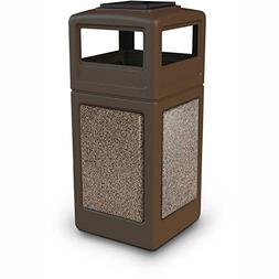 Commercial Zone StoneTec 42 Gallon Square Receptacle with As