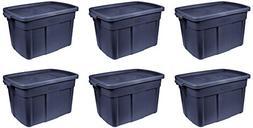 Rubbermaid Storage Tote-Pack of 6, 18 Gallon, Dark Indigo Me