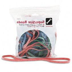 "Alliance Supersize Rubber Bands, 12: Red, 14"" Green, 17"" Blu"