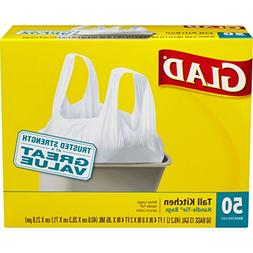 Glad Tall Handle-Tie Kitchen Trash Bags - 13 Gallon - 50 Cou