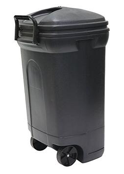 United Solutions TB0017 Rectangular Wheeled Trash Can with H