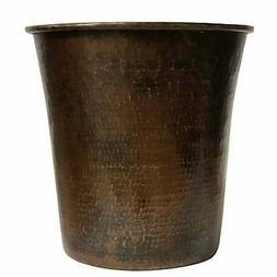 Premier Copper Products TC11DB Hand Hammered Copper Trash Ca