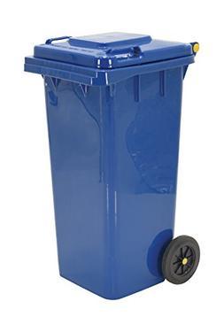 "Vestil TH-32-BLU Trash Can, Polyethylene, 18-1/2"" Width, 37-"