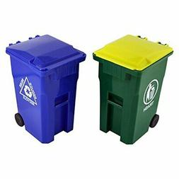 Thorntons Office Supplies Mini Curbside Trash and Recycle Ca