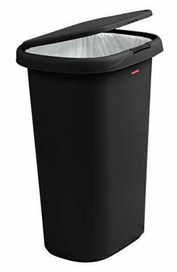 Rubbermaid Spring-Top Lid Trash Can for Home, Kitchen, and B