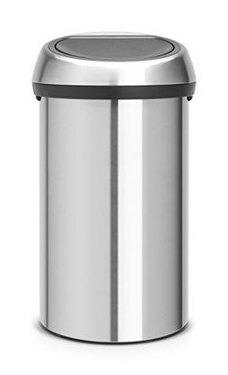 Brabantia Touch Trash Can 16 gallon/60 liter - Matte Steel F