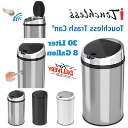 Touchless Automatic Sensor Trash Can With Odor Control Syste