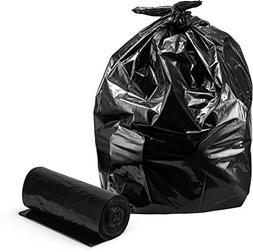 Trash Bags 55-60 Gallon, Large Black Garbage Bags, 100/Case,