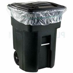 Plasticplace2.0 Mil Heavy Duty Garbage Can Liners, Clear,