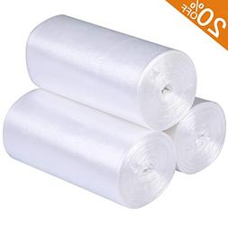 Small Trash Bags Kitchen Garbage Bags - 4 Gallon Clear Trash