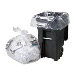 95-100 Gallon,  Large Clear Plastic Recycling Trash Bags,