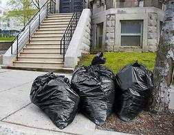 Trash Bags 65 Gallon, Large Black Garbage Bags