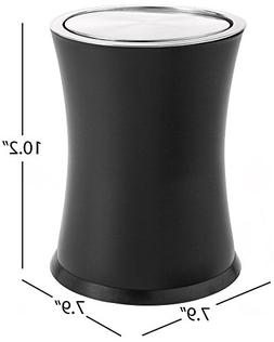 "Bennett""Swivel-A-Lid"" Small Trash Can, Metal Attractive 'Cen"