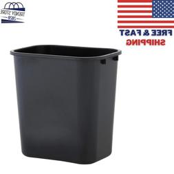 Trash Can 7 Gal Waste Garbage Home Office Kitchen Black Rect