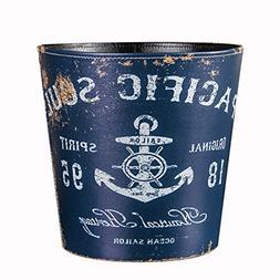 Trash Can, Hmane 10.2 X 10.2 X 10.2 Inch British Style Trash