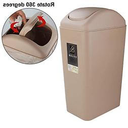 Trash Can Bedroom Small Lid Bathroom Waste Plastic Garbage O