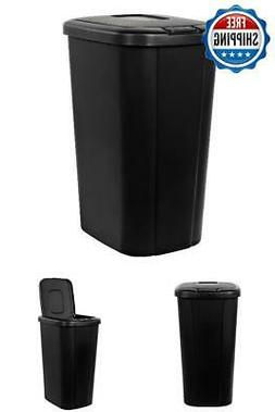 Trash Can Bin Garbage Plastic Kitchen Waste Basket Touch Lid