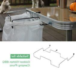 New Portable Trash Can Over the Cabinet Plastic Bag Holder K