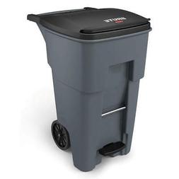 RUBBERMAID Trash Can,Free-Standing,Roll Out,65 gal., 1971968