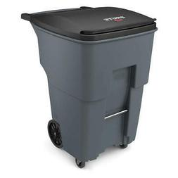 RUBBERMAID Trash Can,Free-Standing,Roll Out,95 gal., 1971994