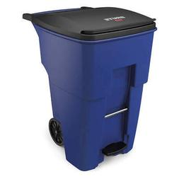 RUBBERMAID Trash Can,Free-Standing,Roll Out,95 gal., 1971993