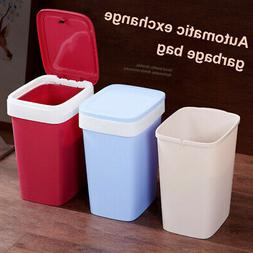 Trash Can Garbage Can With Lid Brief Pressing Bag Easy Chang