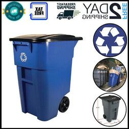 Trash Can Garbage Recycling Container Waste Heavy Duty Rollo