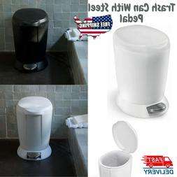 Trash Can Lid Bathroom Bedroom Bin Kitchen Step Pedal Waste