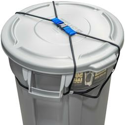 Outdoor TRASH CAN LOCK for Animals - Heavy Duty Bungee Cord