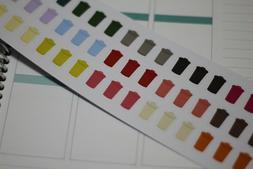 Trash Can multi colors Stickers Calendar Scrapbook Works wit