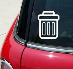 Trash Can Office Recycle Funny Graphic Decal Sticker Car Vin