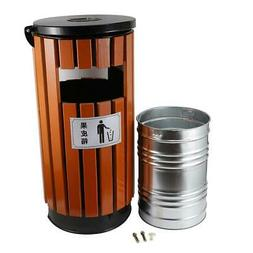 Outdoor Trash Can Garbage Enclosure Locking Lid Ashtray Open