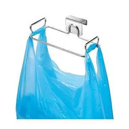 Trash Can Over the Cabinet Plastic Bag Holder Portable Kitch