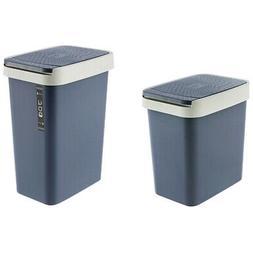 Trash Can Plastic Waste Bins Office Kitchen Living Room Bath